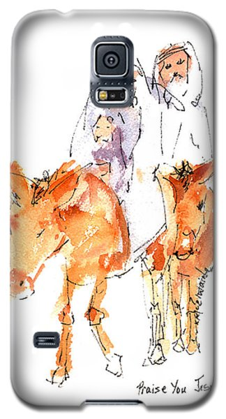 Praise You Jesus Watercolor Painting By Kmcelwaine Galaxy S5 Case