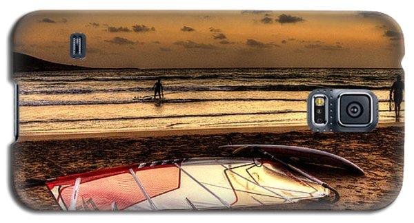 Galaxy S5 Case featuring the photograph Prasonisi - A Day Of Windsurfing Is Over by Julis Simo