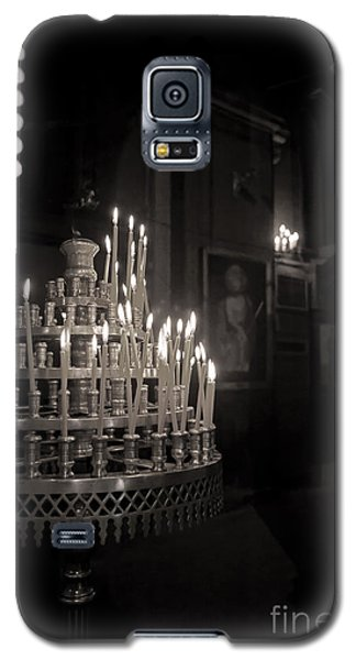 Galaxy S5 Case featuring the photograph Prayer Candles by Aiolos Greek Collections