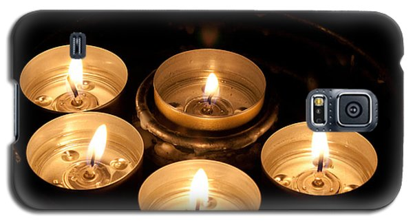 Prayer Candles In Notre Dame Galaxy S5 Case