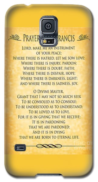 Prayer Of St Francis - Pope Francis Prayer - Gold Parchment Galaxy S5 Case