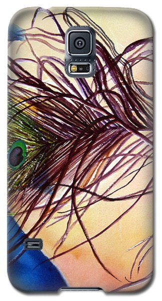 Galaxy S5 Case featuring the painting Preening For Attention Sold by Lil Taylor