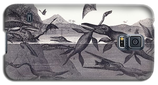 Prehistoric Animals Of The Lias Group Galaxy S5 Case by English School