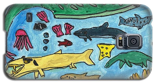 Prehistoric Sea Galaxy S5 Case by Artists With Autism Inc