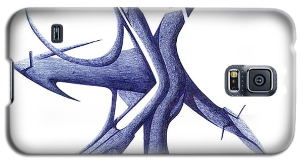 Galaxy S5 Case featuring the drawing Prehistoric Sign by Giuseppe Epifani