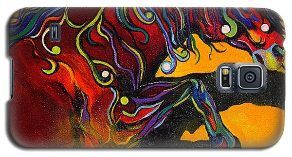 Galaxy S5 Case featuring the painting Prelude To A Dance by Alison Caltrider