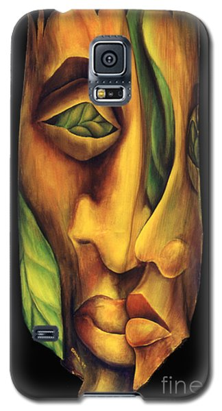 Galaxy S5 Case featuring the painting Prelude To A Kiss by Anna Skaradzinska