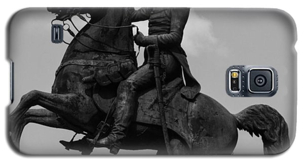Galaxy S5 Case featuring the photograph President Andrew Jackson Statue by Robert Hebert