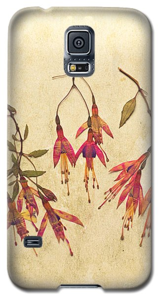 Pressed Fuchsia Flowers Galaxy S5 Case