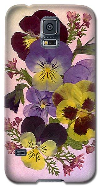 Pressed Pansies Galaxy S5 Case