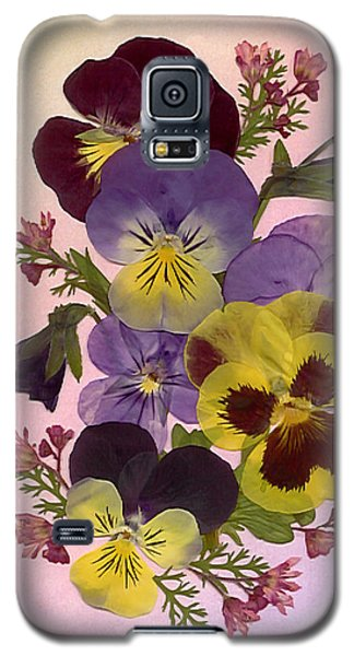 Pressed Pansies Galaxy S5 Case