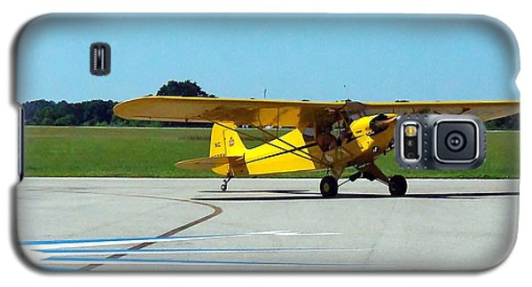 Galaxy S5 Case featuring the photograph Preston Aviation Piper Cub  by Chris Mercer