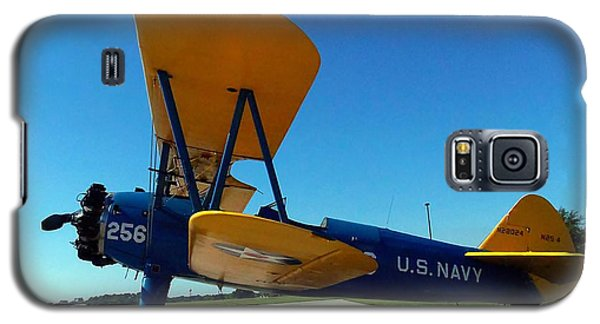 Galaxy S5 Case featuring the photograph Preston Aviation Stearman 001 by Chris Mercer