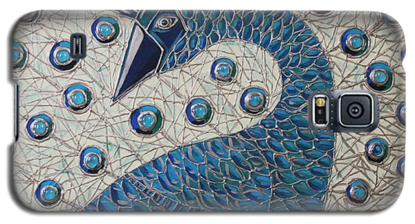 Galaxy S5 Case featuring the painting Pretty As A Peacock  by Cynthia Snyder