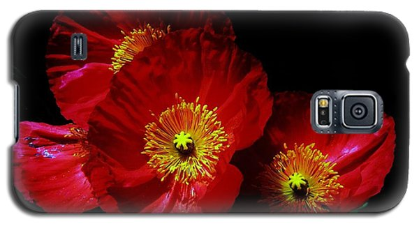 Pretty As A Poppy Galaxy S5 Case