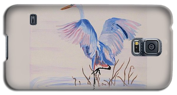 Galaxy S5 Case featuring the painting Pretty Crane by Phyllis Kaltenbach