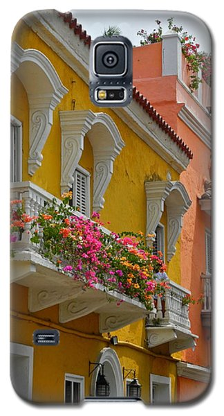 Pretty Dwellings In Old-town Cartagena Galaxy S5 Case by Kirsten Giving