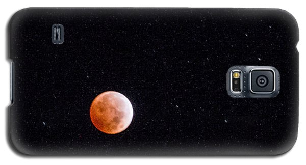 Pretty Face On A Blood Moon Galaxy S5 Case by Carolina Liechtenstein
