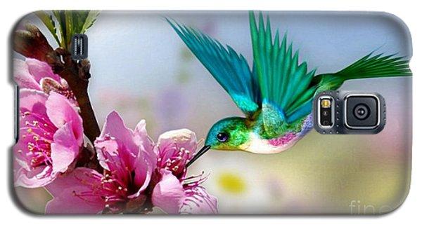 Galaxy S5 Case featuring the mixed media Pretty Hummingbird by Morag Bates