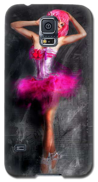 Galaxy S5 Case featuring the painting Pretty In Pink by Kim Gauge