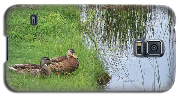 Galaxy S5 Case featuring the photograph Mated Pair Of Ducks by Eunice Miller