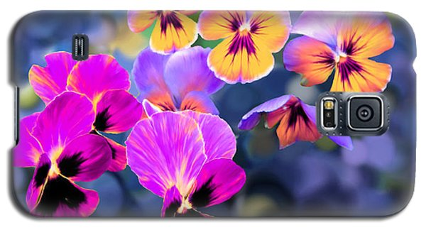 Pretty Pansies 3 Galaxy S5 Case