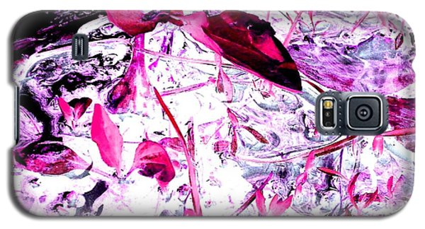 Pretty Pink Weeds 6 Galaxy S5 Case by Marianne Dow