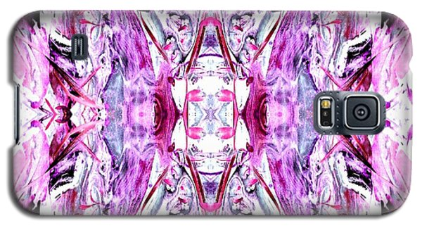 Pretty Pink Weeds Abstract  2 Galaxy S5 Case by Marianne Dow