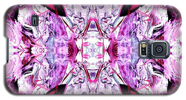 Galaxy S5 Case featuring the photograph Pretty Pink Weeds Abstract  4 by Marianne Dow