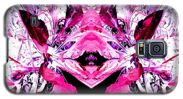 Pretty Pink Weeds Abstract  5 Galaxy S5 Case by Marianne Dow