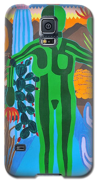 Galaxy S5 Case featuring the painting Pricked by Erika Chamberlin