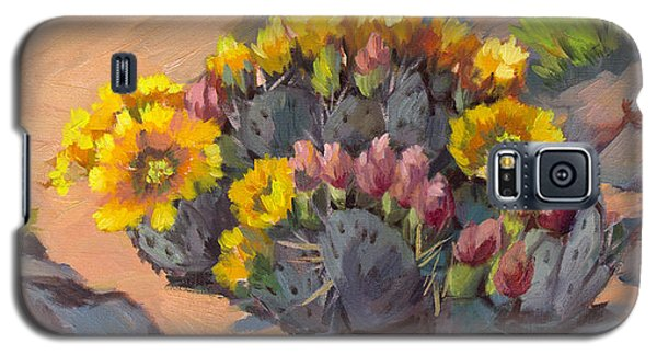Prickly Pear Cactus In Bloom Galaxy S5 Case by Diane McClary