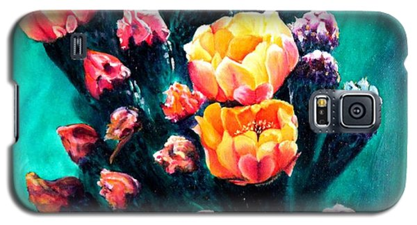 Prickly Pear Cactus Painting Galaxy S5 Case by Judy Filarecki