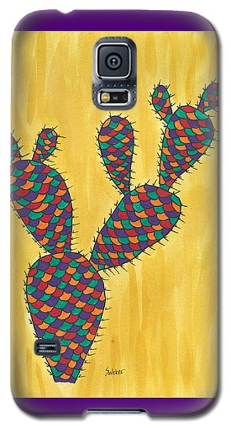 Galaxy S5 Case featuring the painting Prickly Pear Cactus Paradise by Susie Weber