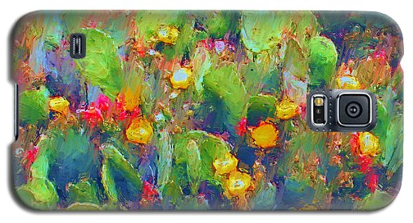 Prickly Pear Painting Galaxy S5 Case by Methune Hively