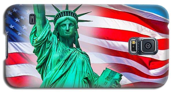 Statue Of Liberty Galaxy S5 Case - Pride Of America by Az Jackson