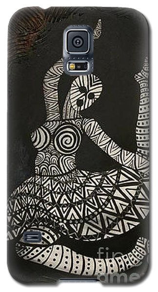 Galaxy S5 Case featuring the painting Primal Dancer Origin by Kristen R Kennedy