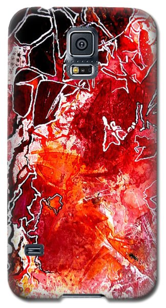 Galaxy S5 Case featuring the painting Primeval by Buck Buchheister