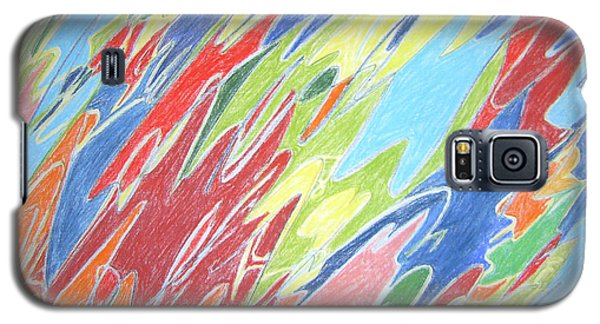 Galaxy S5 Case featuring the painting Primeval Yearnings by Esther Newman-Cohen