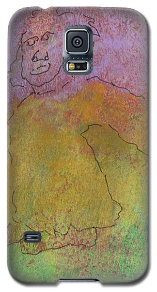 Galaxy S5 Case featuring the mixed media Primitive Giant by Catherine Redmayne