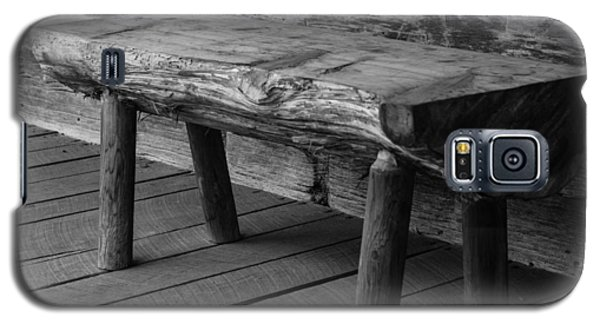 Galaxy S5 Case featuring the photograph Primitive Wooden Bench by Robert Hebert