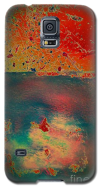 Galaxy S5 Case featuring the painting Primordial by Jacqueline McReynolds