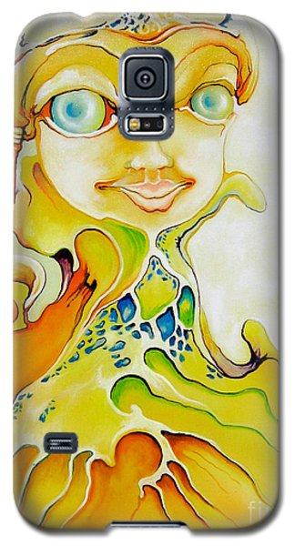 Galaxy S5 Case featuring the painting Prince Of Deep Sea by Alexa Szlavics