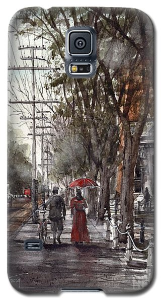 Galaxy S5 Case featuring the painting Prince Street by Tim Oliver