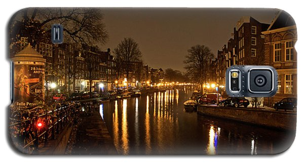 Galaxy S5 Case featuring the photograph Prinsengracht Canal After Dark by Jonah  Anderson