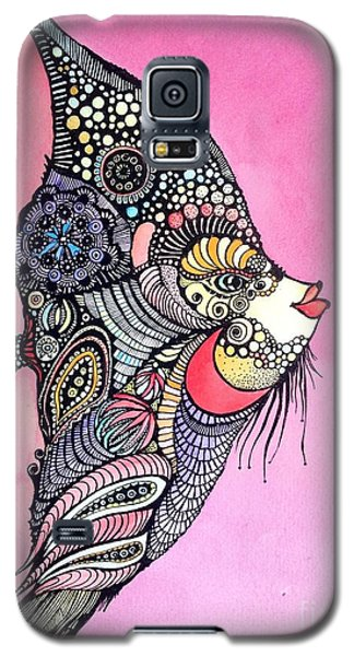 Galaxy S5 Case featuring the painting Priscilla The Fish by Iya Carson