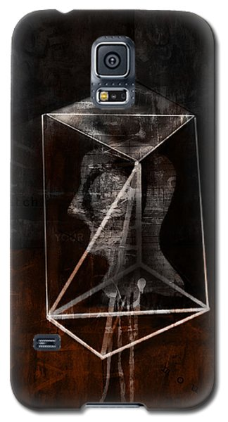 Galaxy S5 Case featuring the mixed media Prism by Kim Gauge
