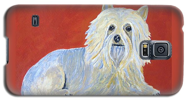 Galaxy S5 Case featuring the painting Prissy by Suzanne Theis