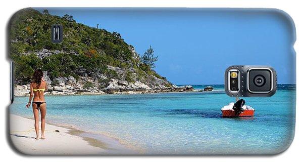 Private Beach Bahamas Galaxy S5 Case