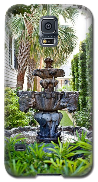 Galaxy S5 Case featuring the photograph Private Fountain by Jean Haynes